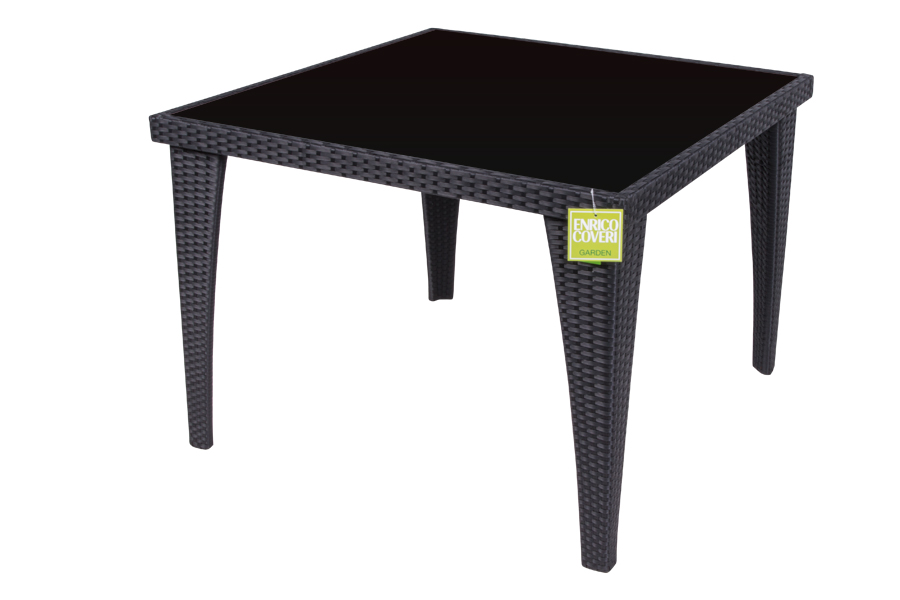 Square table brown 100 x 100 x 72 pitre online for 100 square table